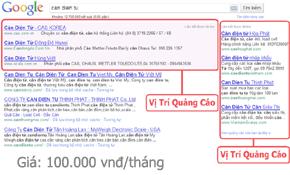 Bảng giá quảng cáo google theo Click
