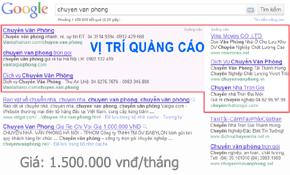 Bảng giá quảng cáo google Top từ 1-4